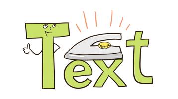 Texte bügeln